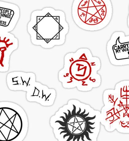Supernatural Sigils and Symbols Sticker