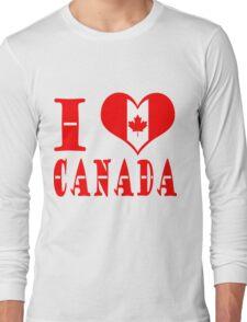 I Heart Canada Long Sleeve T-Shirt