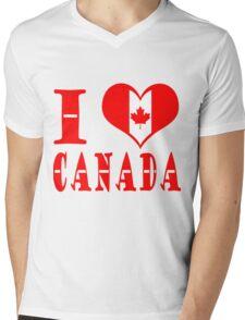 I Heart Canada Mens V-Neck T-Shirt