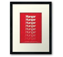 'Hunger' film poster Framed Print