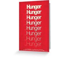 'Hunger' film poster Greeting Card