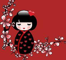 Cherry Blossom Geisha by cheetahsgraphic