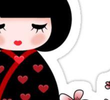Cherry Blossom Geisha Sticker