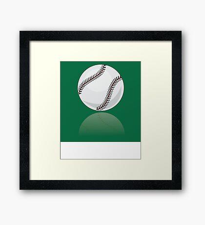 Brand new baseball illustration Framed Print