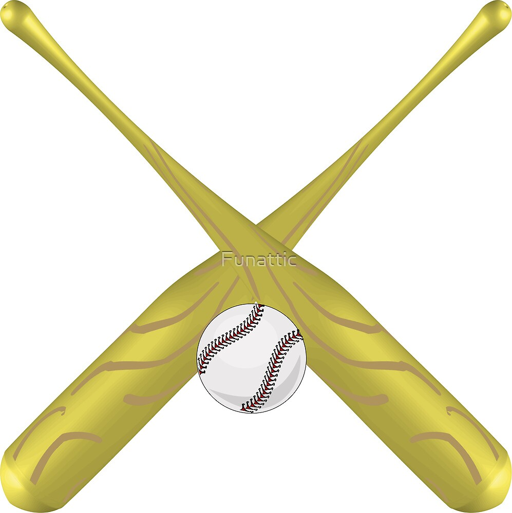 Baseball bats crossed