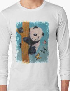 Panda Butterflies Long Sleeve T-Shirt