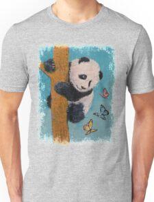 Panda Butterflies Unisex T-Shirt