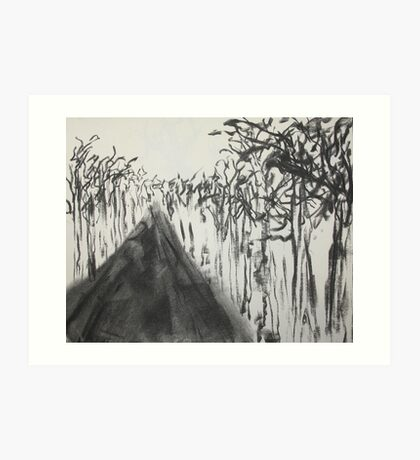 Road and Trees Art Print