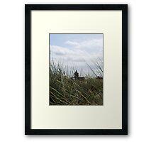 Church through the dunes Framed Print