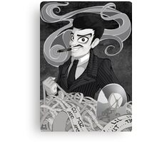 Gomez Addams- Black and White version Canvas Print