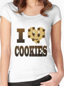 I Love Cookies Women's Fitted Scoop T-Shirt