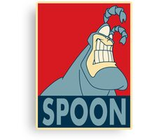 """The Tick SPOON- """"Hope"""" Poster Parody Canvas Print"""