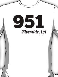 Area Code 951 Riverside CA T-Shirt