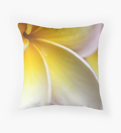 there's something about plumerias... Throw Pillow