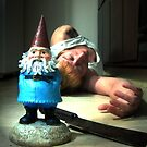 the gnome did it in the kitchen with the meat cleaver by DravenStudios