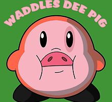 Waddles Dee Pig by wanderingent