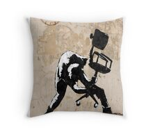 Office Rage Throw Pillow