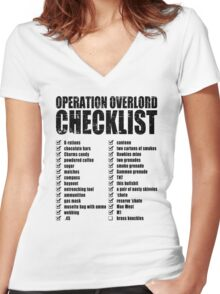 Operation Overlord Checklist Women's Fitted V-Neck T-Shirt