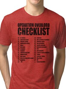 Operation Overlord Checklist Tri-blend T-Shirt