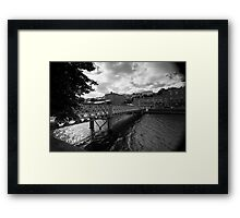 A Bridge, A River Framed Print