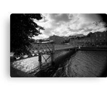 A Bridge, A River Canvas Print