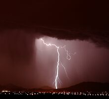 A winter thunderstorm in Phoenix by Mike Olbinski
