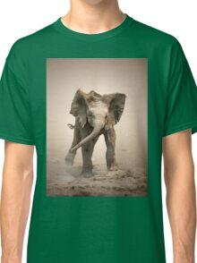 Elephant Calf mock charging Classic T-Shirt