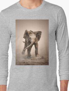 Elephant Calf mock charging Long Sleeve T-Shirt