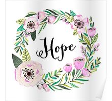 Hope Lettering Watercolor Ilustration Poster
