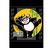 Martial Arts Panda - Black Photographic Print