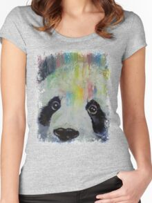 Panda Rainbow Women's Fitted Scoop T-Shirt