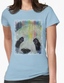 Panda Rainbow Womens Fitted T-Shirt