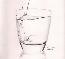 A glass of water by Wildi