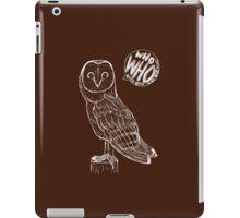 Barn Owl - Who iPad Case/Skin