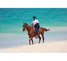 Horse rider on a Tropical Beach in Florida Photographic Print