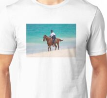 Horse rider on a Tropical Beach in Florida Unisex T-Shirt