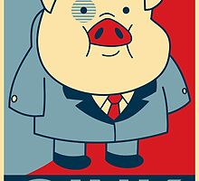 """Waddles Oink- """"Hope"""" Poster Parody by wanderingent"""