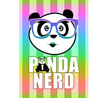 Panda Nerd Girl - Rainbow Photographic Print