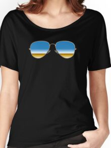 Mirrored Sunglasses Women's Relaxed Fit T-Shirt