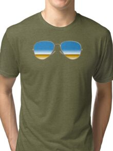 Mirrored Sunglasses Tri-blend T-Shirt