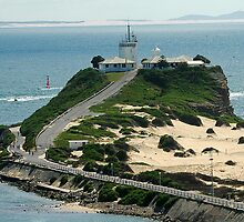 Nobby's Lighthouse Newcastle NSW - A Bird Eye View! by Phil Woodman