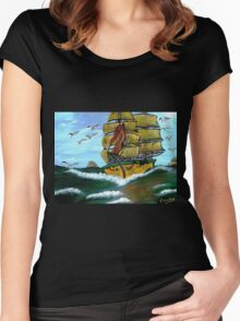 Columbus' Sailing Ships Women's Fitted Scoop T-Shirt