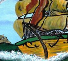 Columbus' Sailing Ships Sticker