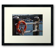 Rescue Device-Lifesaver Framed Print