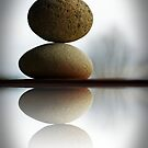 winter sun on balancing stones by Clare Colins