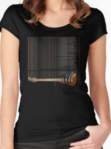 falling music Women's Fitted Scoop T-Shirt