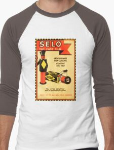 Vintage Selo Advert on Photographic Wallet Men's Baseball ¾ T-Shirt