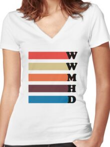 What Would Mariska Hargitay Do? Women's Fitted V-Neck T-Shirt