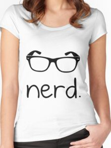 Nerd. Women's Fitted Scoop T-Shirt