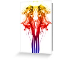 Dance of Color - Smoke Photography Greeting Card